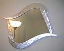 funky mirror design, mirror, abstract mirrors in brushed aluminum