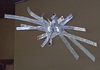 wall art sculpture in brushed aluminum
