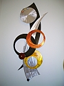 abstract wall sculpture and modern wall art sculpture in aluminum and metal